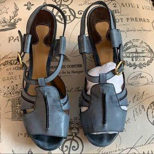 Chloe wedge heels sz 6.5-7 EU38